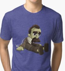 Glitch miscellaneousness doll nietzsche Tri-blend T-Shirt