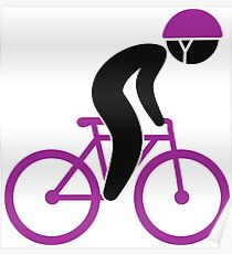 A racing cyclist on his bike Poster