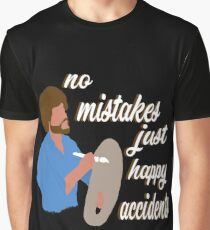 Bob Ross Happy Accidents Graphic T-Shirt