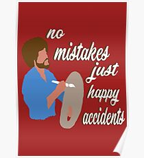 Bob Ross Happy Accidents Poster