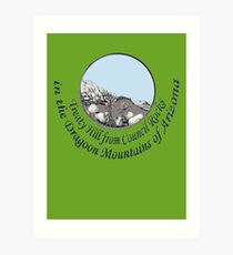 Treaty Hill in Cochise's Dragoon Mtns of Arizona Art Print