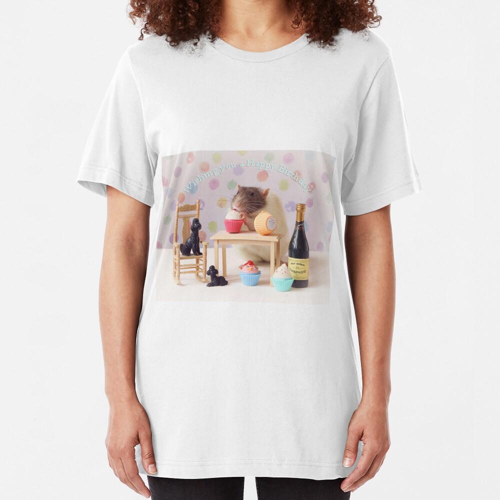 Happy Birthday! Slim Fit T-Shirt
