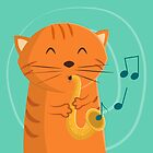 Jazz Cat by cartoonbeing