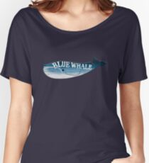 A Blue Whale Casts Dark Shadows Women's Relaxed Fit T-Shirt