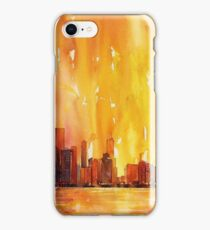 Sunrise- Chicago, IL watercolor painting iPhone Case/Skin