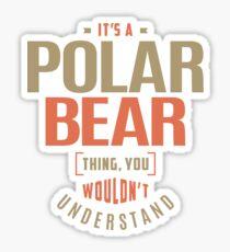 Polar Bear Thing Sticker