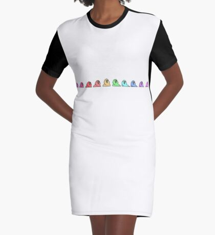 PartyParrot - Conga Line Graphic T-Shirt Dress