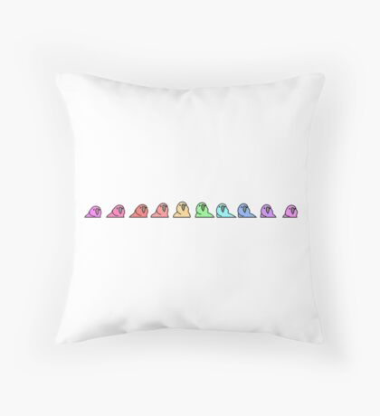 PartyParrot - Conga Line Throw Pillow