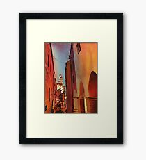 Castle in Cesky Krumlov- watercolor painting Framed Print