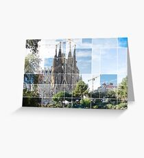La sagrafa familia, Barcelona Greeting Card