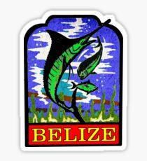 BELIZE CARIBBEAN SEA VACATION TRAVEL FISHING DEEP SEA VINTAGE MARLIN Sticker