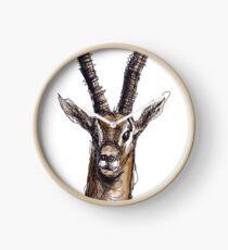 Wire Gazelle (Colour) Clock