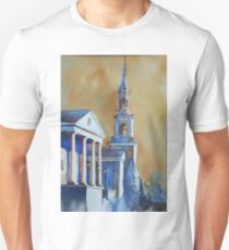 Watercolor painting of church in Cary, NC Unisex T-Shirt
