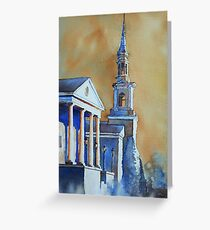 Watercolor painting of church in Cary, NC Greeting Card