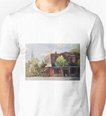 Plein air painting of Cary, North Carolina (USA) Unisex T-Shirt
