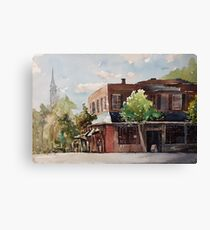 Plein air painting of Cary, North Carolina (USA) Canvas Print