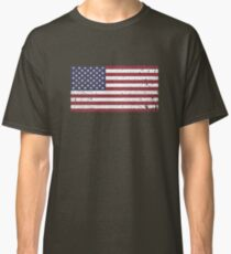 Vintage Look Stars and Stripes American Flag Classic T-Shirt