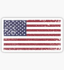 Vintage Look Stars and Stripes American Flag Sticker