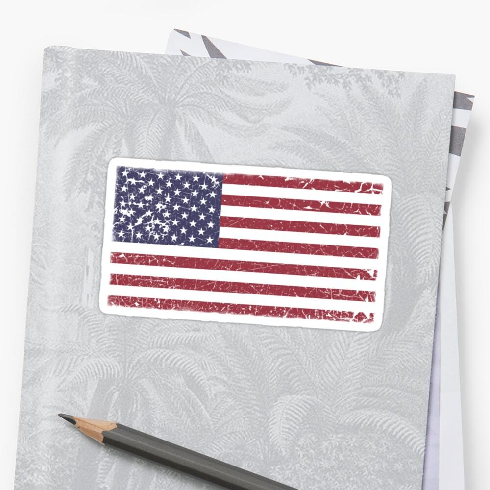 Vintage Look Stars and Stripes American Flag by VintageSpirit