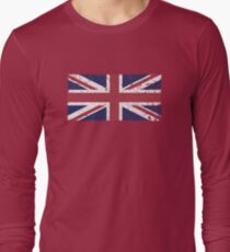 Vintage look Union Jack Flag of Great Britain Long Sleeve T-Shirt