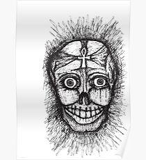 Skull on a tangent Poster