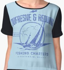 Dufrense and Redding Fishing Chrters Women's Chiffon Top