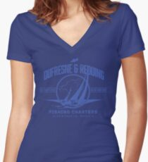 Dufrense and Redding Fishing Chrters Women's Fitted V-Neck T-Shirt