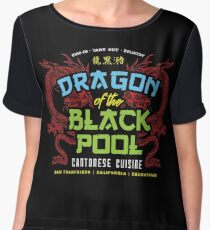 Dragon of the Black Pool Women's Chiffon Top