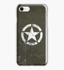 Vintage Look US Army White Star Emblem iPhone Case/Skin