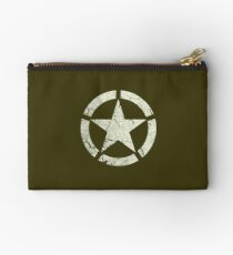 Vintage Look US Army White Star Emblem Studio Pouch