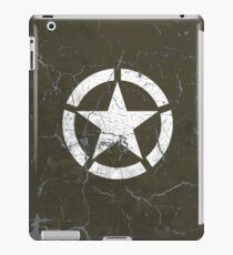 Vintage Look US Army White Star Emblem iPad Case/Skin