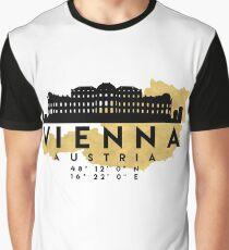 VIENNA AUSTRIA SILHOUETTE SKYLINE MAP ART Graphic T-Shirt