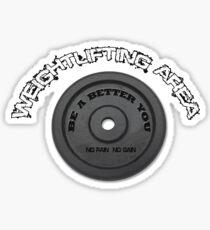 weightlifting area Sticker