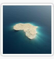 Africa conceptual island design Sticker