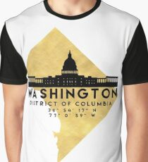 WASHINGTON D.C. DISTRICT OF COLUMBIA SILHOUETTE SKYLINE MAP ART Graphic T-Shirt