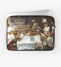Licking blocks of ice during heat wave in New York, July, 1911 Laptop Sleeve