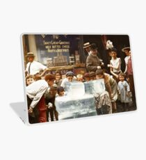 Licking blocks of ice during heat wave in New York, July, 1911 Laptop Skin