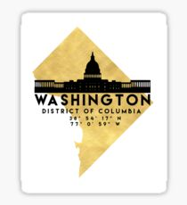 WASHINGTON D.C. DISTRICT OF COLUMBIA SILHOUETTE SKYLINE MAP ART Sticker