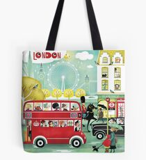 Happy London Tote Bag