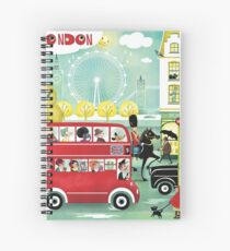 Happy London Spiral Notebook