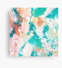 Pink and Blue Marble Canvas Print