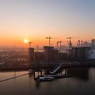 Sunset from the Emirates Cable Car by Mattia  Bicchi Photography