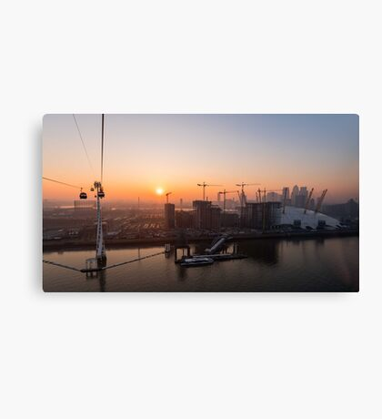 Sunset from the Emirates Cable Car Canvas Print