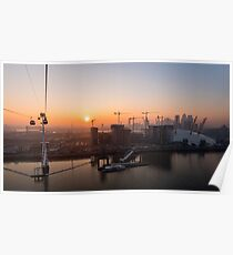 Sunset from the Emirates Cable Car Poster