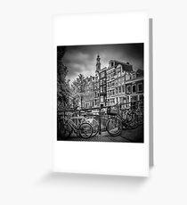 AMSTERDAM Bloemgracht schwarz-weiß  Greeting Card