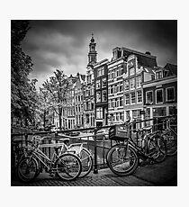 AMSTERDAM Bloemgracht schwarz-weiß  Photographic Print