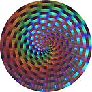 Rainbow Rings Spiral by Ruth Moratz