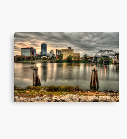 Little Rock Skyline, Arkansas Canvas Print