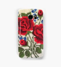 Red Roses Needlepoint Samsung Galaxy Case/Skin