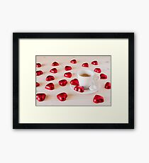 Chocolate hearts for a romantic day Framed Print